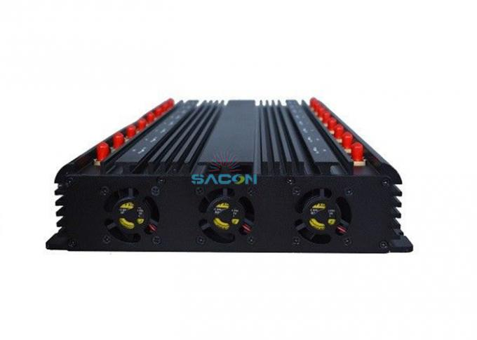 16 Channels 38w Wifi Signal Jammer 2.4G 5.8G For Meeting Rooms / Museums