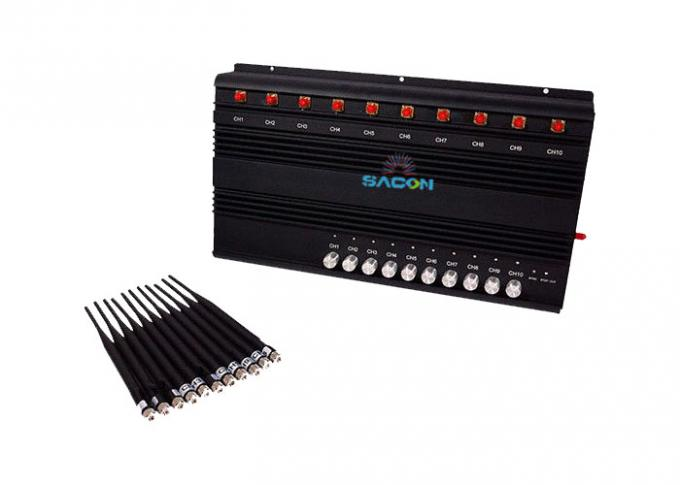 2G 3G 4G GPS Cell Phone Wifi Jammer , Mobile Phone Signal