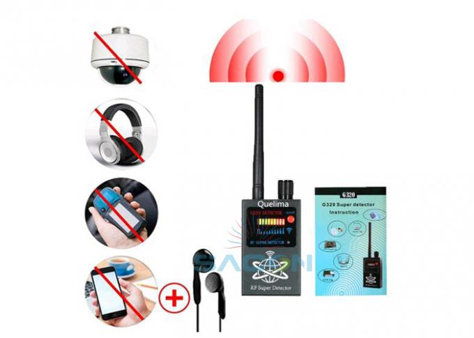 Wireless RF Signal Bug Camera Detector Anti Spy 1MHz-8000Mhz For Vehicle GPS Tracker