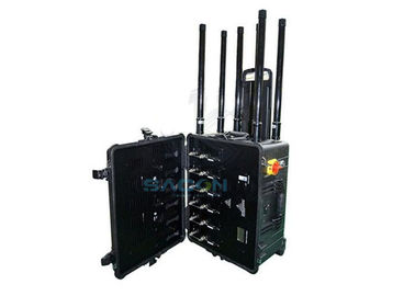300w 6 Channels Drone Signal Jammer Long Distance Up To 1500m For Military