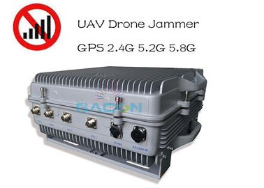 Waterproof IP64 High Power 385w Drone Signal Jammer 1.5km Long Distance GPS 2.4G 5.8G