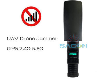 Light Weight 2.4G 5.8G GPS 500m Handheld Drone Signal Jammer