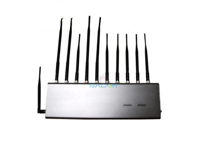 4G GPS RF Wifi Signal Jammer 11 Antennas For School / Conference Room supplier
