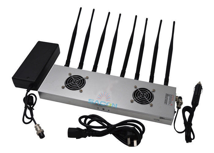 2G 3G 4G WiFi High Power Signal Jammer High Frequency With 8 Omni Directional Antennas