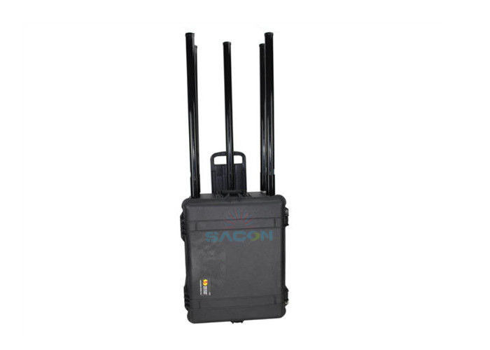 5 Antennas 150w Portable Manpack Jammer Waterproof Case With Customized Frequency