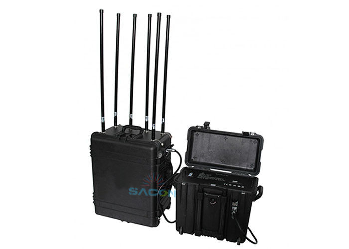 6 Bands Military Bomb Manpack Jammer 460w High Power With 5% ~ 90% Humidity supplier