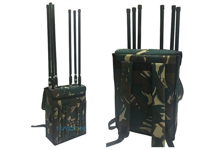 800-2700MHz Manpack Jammer Block Lojack Wifi GPS With 120m Range , 8 Channels supplier