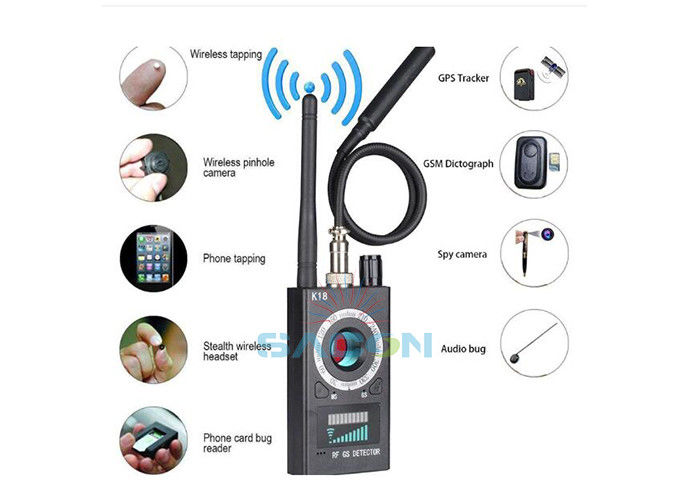 GSM Audio Bug Finder Radio Frequency Signal Detector 1Mhz-6.5Ghz Multi Functional Camera