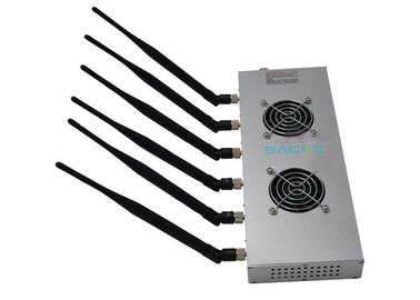 Wifi Bluetooth High Power Cell Phone Jammer 12w 6 Bands For Library