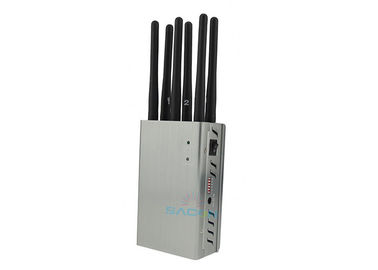 8w Portable High Power Signal Jammer 8 Bands With 30m Radius , 145 X 80 X 45mm